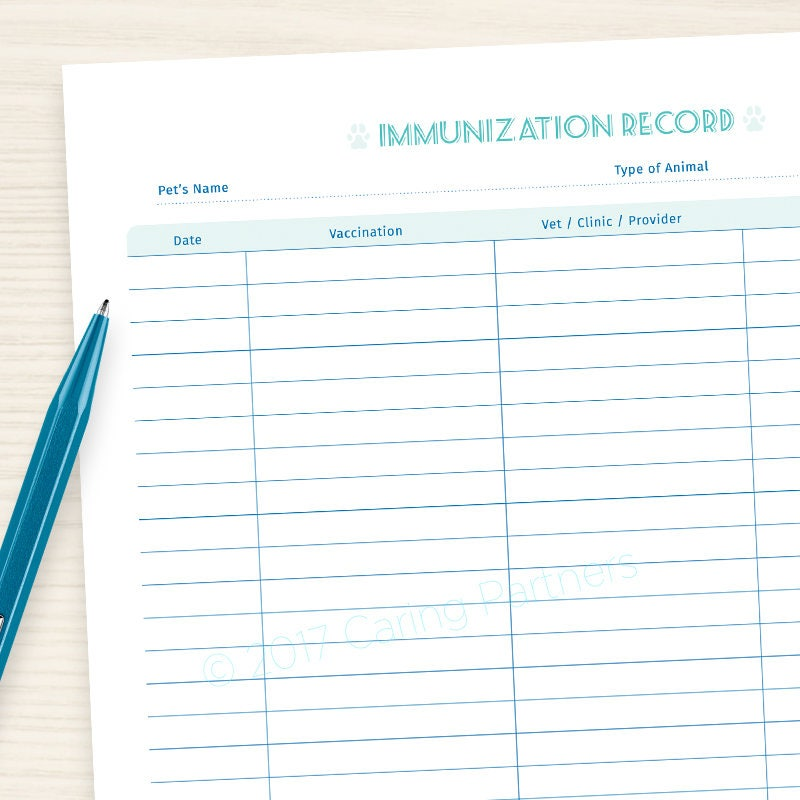 Declarative image within dog vaccination record printable pdf