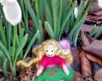 Tiny felt fairy