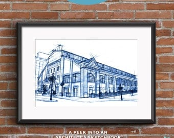St. Lawrence Market | Blueprints | Hand-drawn  sketch of an architectural icon