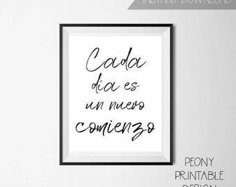 Spanish Printable Quotes Sign, Spanish Home Decor, Spanish Wall Art, Printable Wall Art Sign, Spanish Typography