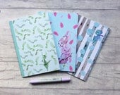 A5 notebooks, fairies, notebook bundle, set of 3, fairy notebook, teen gift, planner girl gift, stationery, cute stationery, flower pattern