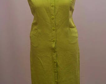 1980's Wallis  pale green long shirt dress in UK size 16