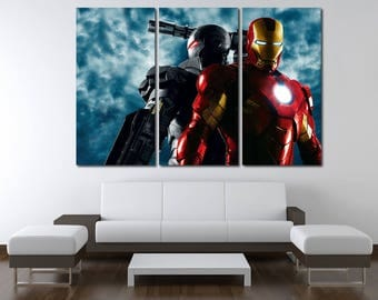 Iron Man Superhero Iron Man Wall Decor Avengers Marvel canvas Iron Man Poster Iron Man canvas Marvel Iron Man Print Superhero Poster Comics