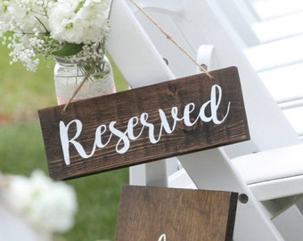 Wooden Reserved Sign, Reserved Wedding Wood Sign, Rustic Sign, Reserved Rustic Wedding Decor, Rustic Wedding Decorations, reserved sign