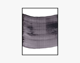 Line Flow 1 Black And White Printable Art Print B&W Gallery Wall Art Abstract Minimalist 6x8 8x10 9x12 12x16 16x20 Instant Download