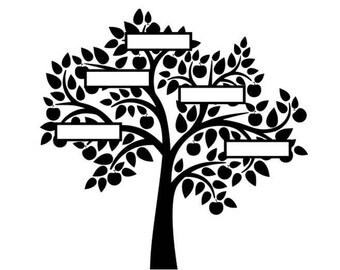Family tree svg, family tree, svg, dxf, cricut, silhouette cutting file, instant download