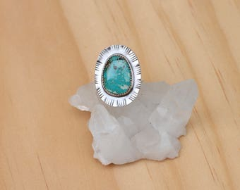 Turquoise Ring // Sterling Silver // Size 6.25