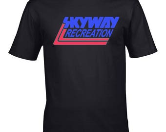sky way  retro old school t shirt bmx bike
