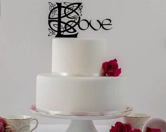 Celtic Love Wedding Cake Topper, Love Cake Topper, Celtic Wedding, Irish Wedding, Elegant Cake Topper, Irish Cake Topper,Lord of the Rings