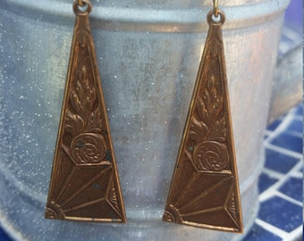 Vintage brass triangles