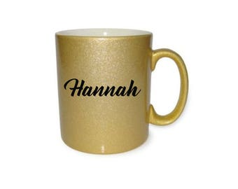 Custom Name Gold Mug