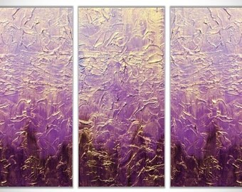 Purple Abstract Painting, Gold abstract painting, Original Painting, Canvas Art, Wall Art, Abstract Art, Abstract Painting, Canvas Painting