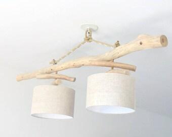 luminaires objets d co bois flott s par jourdepluiecreations. Black Bedroom Furniture Sets. Home Design Ideas