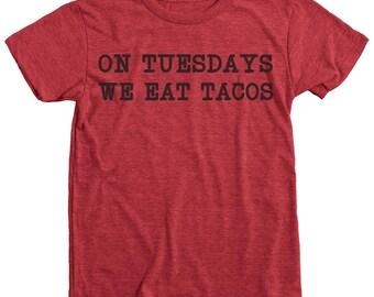 Taco Tuesday Kid's Tri-Blend T-Shirt