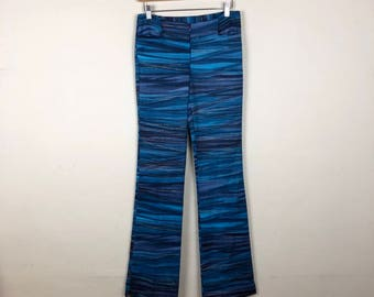 90s High Waist Blue Pants Size M, 90s J-Lo Inspired Pants, 90s Party Pants
