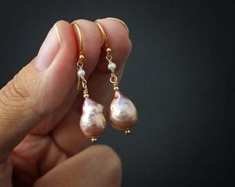 Kasumi-like Pearl Earrings Real Pearl Earrings Bridesmaid Earrings, Classic Earrings Drop Earrings Everyday Earrings Pearl Drop Earrings gol