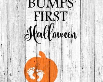 Bumps First Halloween SVG