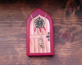 Dreamcatcher Fairy Door | Handmade Solid Wood Fairy Door | Unique Gift | Pretend Play