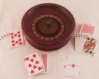 Vintage 1930s Wood Roulette Wheel