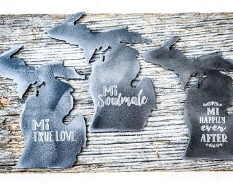Personalized Michigan Magnet Wedding Favor