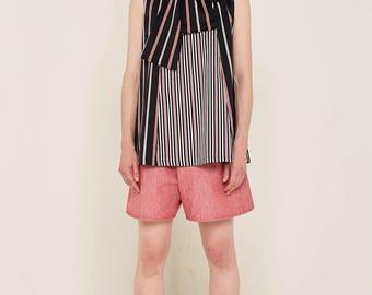 Stripy Bow Blouse
