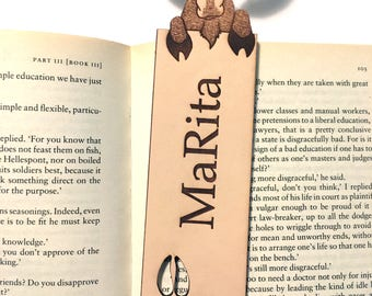 Personalized Moose Bookmark, Personalized Gift, Moose Bookmarks, Leather Bookmark, Custom Gift, Leather Gifts