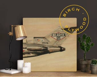 BEASTIE BOYS: Licensed to Ill - Album Art on Wood, Adam Yauch, Mike D, Ad-Rock, John Berry, Mix Master Mike, Music Art, Music Poster