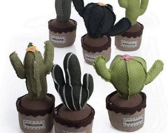 Cactus-shaped 1 Piece fabric DoorStop