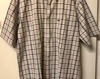 Stone and Blue Wrangler Short Sleeve Shirt