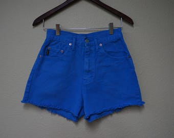 High Waisted distressed shorts -ONLY ONE