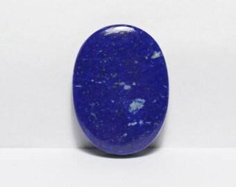 40% Off, Natural LAPIS LAZULI Gemstone, 33X24.5X5.5 mm Size,Oval Shape Gemstone,Smooth Cabochon, +++AAA Quality Lapis Lazuli Ll#1587