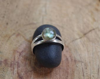Ring Silver 925 and labradorite