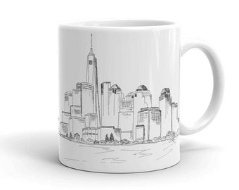NYC Coffee Mug Unique Cup New York City Skyline Black And White