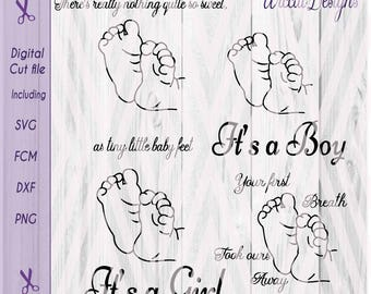 Baby feet svg, baby birth svg, Little feet svg, pregnant svg, Quotes svg, newborn svg, pillow svg, cricut file, baby shower gift, silhouette