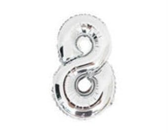 """8 Number Balloon for 8th Birthday Party, Kid's Birthday Party 