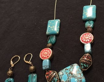 Tantalizing Coral and Turquoise