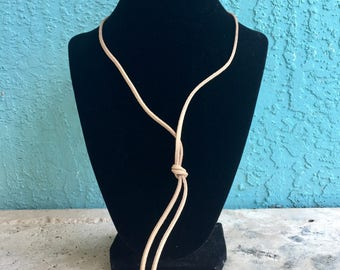 Loosh & Co Hanging Knot Necklace