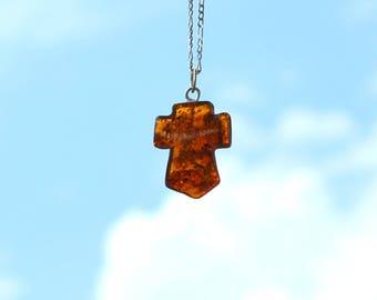 Amber cross pendant etsy beautiful baltic amber cross pendant amber cross pendant baltic amber pendant baltic amber mozeypictures Gallery