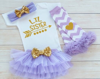 Baby Girl, Take Home Outfit, Little Sister Shirt, Baby Girl Shirt, Little Sister, Little Sister Bodysuit, Baby Sister Outfit, Baby Girl Gift