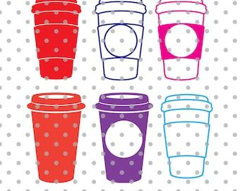 Coffee cups svg, cups svg, starbucks svg, latte svg, dxf, DXF, Cricut Design Space, Silhouette Studio, Cut Files, drinks svg