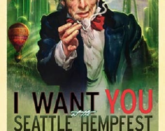 2013, Uncle Sam Poster by Seattle HEMPFEST®