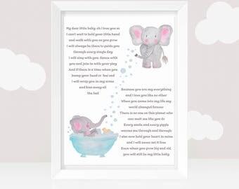 Baby Poem Print - Baby Wall Art - Sentimental Baby Poem - Mother's love - Babies Room Art - 8 X 10 Baby Print (UNFRAMED PRINT)