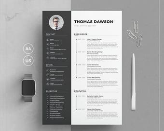 Designer Resume Template Pdf Resume Template  Etsy Typing Skills On Resume Word with Dental Assistant Resume Objectives Pdf  Free Resume Templates Online Word