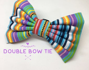 Rainbow dog bow tie, bow ties for dogs, dog bow tie, dog bow, bow tie for girls, bow tie for boys, pet bow tie, pet bow, pet accessories
