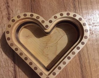Heart shaped Jewelry/ Keepsake Box