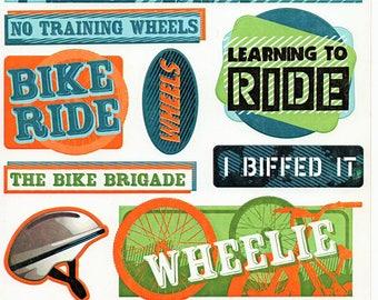 My Bike Boy Girl Family  Karen Foster Scrapbook Stickers Embellishments Cardmaking Crafts