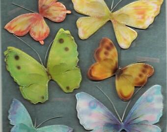 Butterfly Butterflies 3d Stickers Scrapbook Embellishments Cardmaking Crafts
