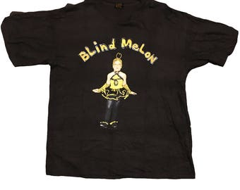 Vintage Blind Melon Shirt XL 90's Rare Alternative grunge beegirl concert tee 1992 1993 crammed in a van tour hippie groovy 90's rock tee