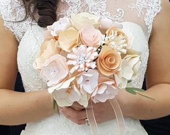 Delicate paper Bride Bouquet