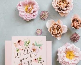 Bridesmaid Proposal Card, Maid of Honor Card Printable,Will You Be My Bridesmaid, Printable Bridesmaid Card, Bridesmaid Proposal, Wedding